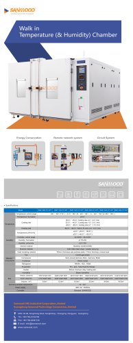 Humidity and temperature test chamber SM-3600-CC