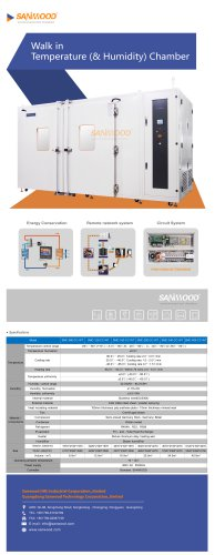 Humidity and temperature test chamber SMC-9700-CC