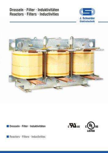 Reactors . Filters . Inductivities