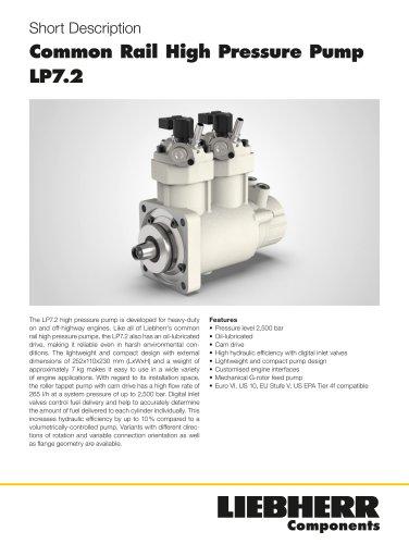 Common Rail High Pressure Pump LP7.2