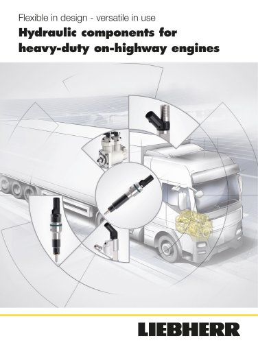 Hydraulic components for heavy-duty on-highway engines
