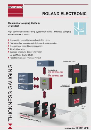 LTM-ECO Thickness Gauging System