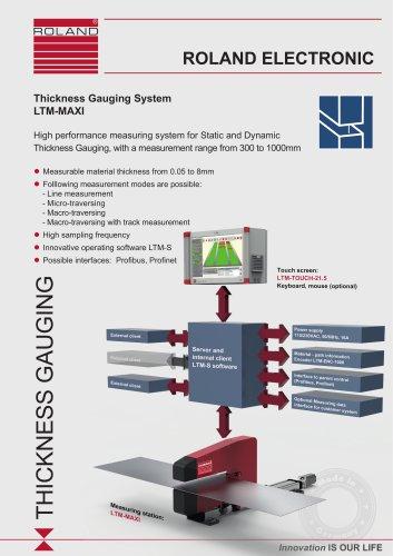 LTM-MAXI Thickness Gauging System
