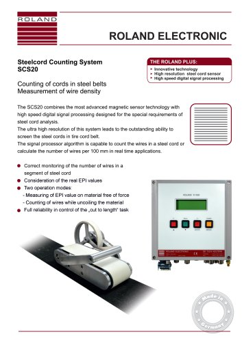 SCS20 Steelcord Counting System