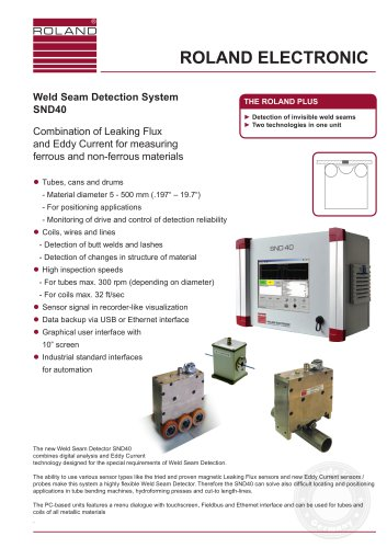 SND40  Weld Seam Detection for tubes and coils