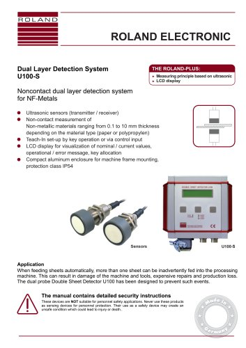 U100-S Dual Layer Detection System