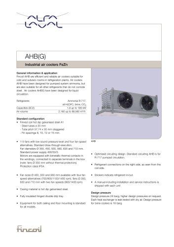 AHB(G) - Industrial air coolers FeZn