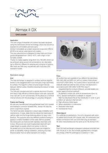 Airmax II DX - Unit cooler