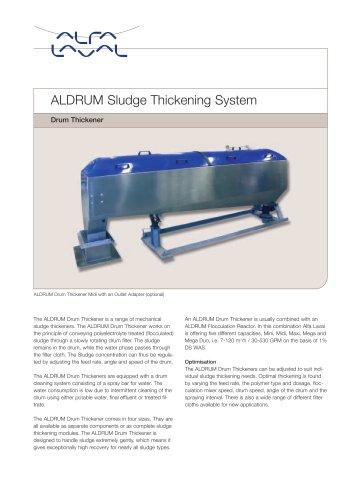 ALDRUM Sludge Thickening System - Drum Thickener