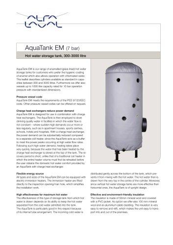 AquaTank EM (7bar)