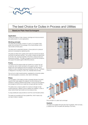 BaseLine PHE - The best Choice for Duties in Process and Utilities
