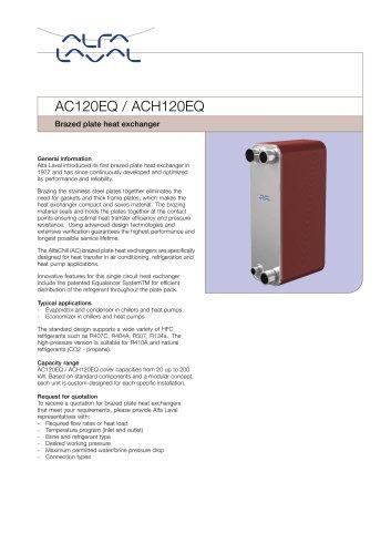Brazed Plate Heat Exchanger AC120EQ / ACH120EQ