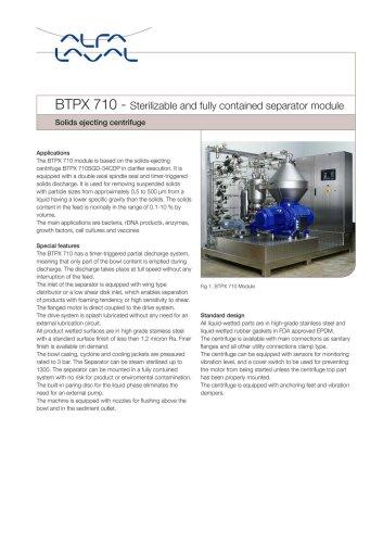 BTPX Separator - BTPX 710 - Pilot plant separation system