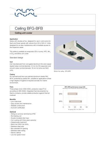 Ceiling BFG-BFB - Ceiling unit cooler