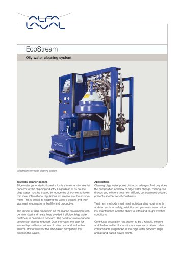 EcoStream - Oily water cleaning system
