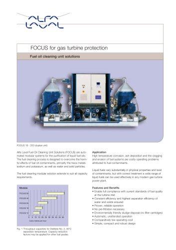 Focus - fuel oil cleaning unit