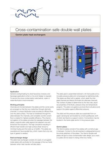 Gemini PHE - Cross-contamination safe double wall plates