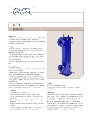 KAB - Sludge filter
