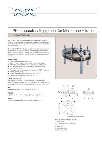 LabStak for membrane filtration M37-38