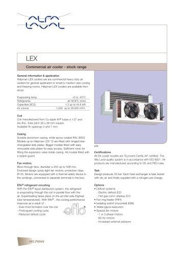LEX - commercial air cooler (stock range)