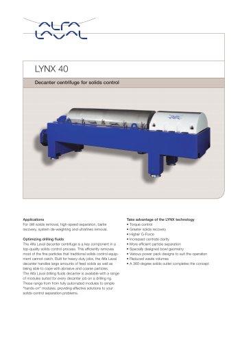 LYNX - Drilling mud decanter - LYNX 40