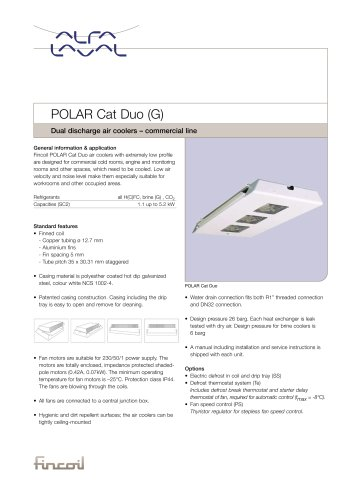 POLAR Cat Duo (G) - Dual discharge air coolers – commercial line