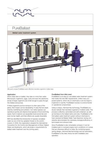 Product leaflet: PureBallast - Ballast water treatment system