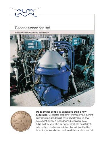 Reconditioned Alfa Laval separators