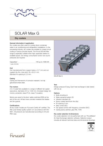 Solar Max G - Dry coolers