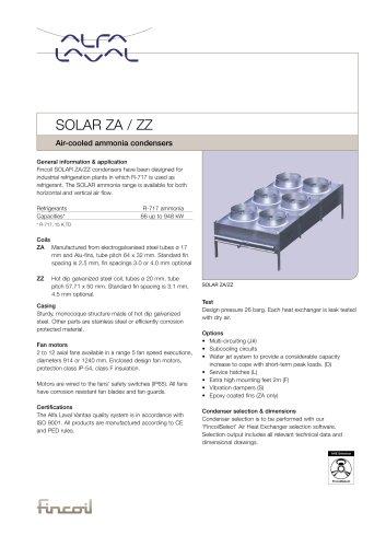 SOLAR ZA / ZZ - Air-cooled ammonia condensers