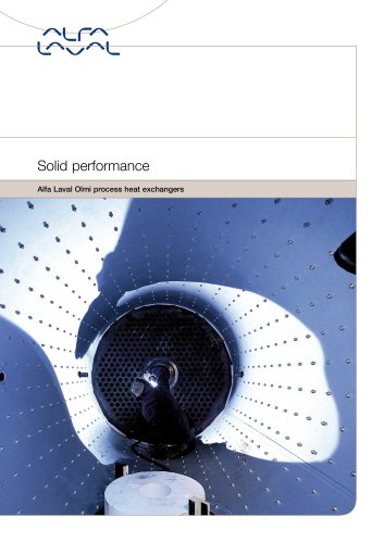 Solid performance Alfa Laval Olmi process heat exchangers