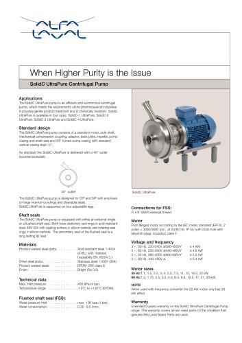 SolidC UltraPure Centifugal Pump