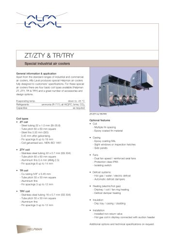 ZT/ZTY & TR/TRY - Special industrial air coolers