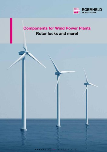 Components for Wind Power Plants