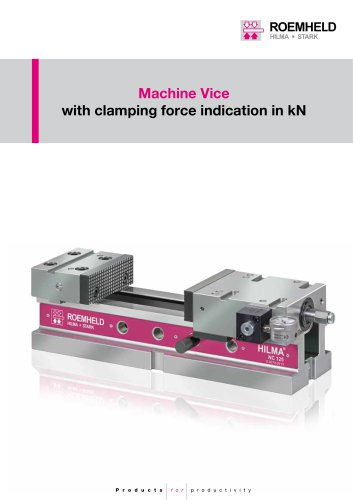 Machine Vice with clamping force indication in kN