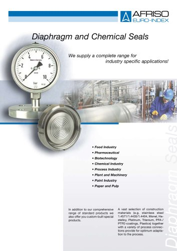 Diaphragm and chemical seals