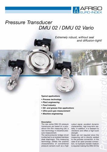 DMU 02 / DMU 02 Vario - Pressure transducer