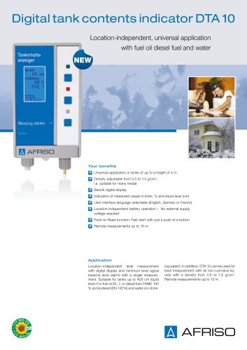 DTA 10 - Digital tank contents indicator