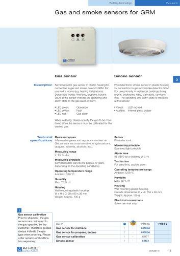 Gas and smoke sensors for GRM