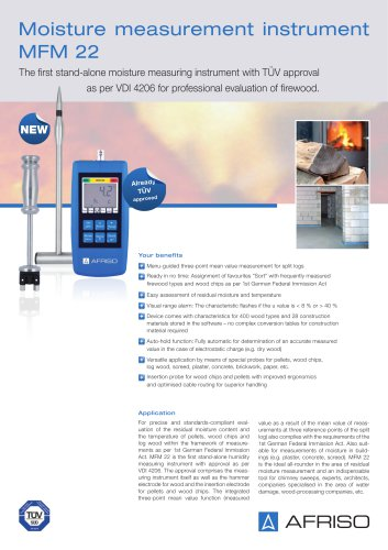 MFM 22 - Handheld measuring instrument for moisture
