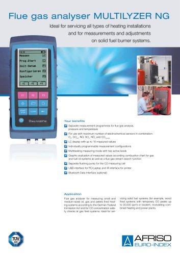 MULTILYZER NG - Flue gas analyser
