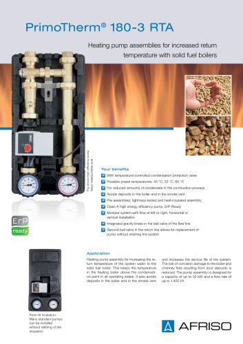 PrimoTherm 180-3 RTA - Heating pump assemblies