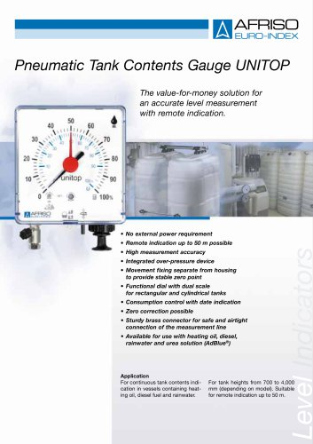 UNITOP - Pneumatic level indicator