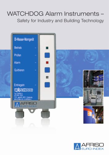 WATCHDOG Alarm Instruments - Safety for Industry and Building Technology