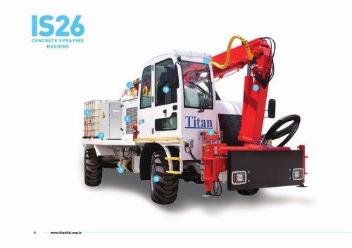 IS26 concrete spraying machine
