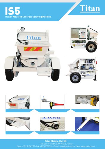 IS5 trailer-mounted concrete spraying machine