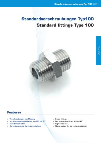 Standard fittings Type 100