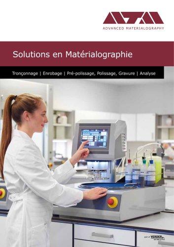 Solutions en Materialograpie