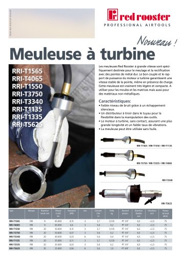 Red Rooster Meuleuses a Turbine