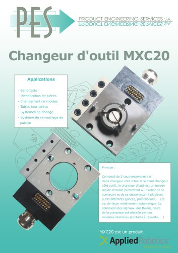 CHANGEUE D OUTIL MXC20